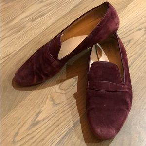 J. Crew burgundy suede shoes
